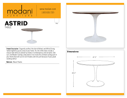 Modern Line Furniture Reviews by Astrid Mid Century Modern Dining Table White And Walnut Dining