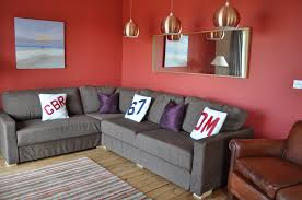 floor l with red shade amazing sleeper sofa as multifunction furniture in living room cute