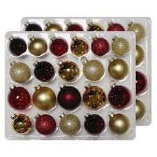 42ct burgundy gold glass ornament set wondershop