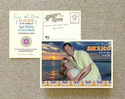 Save The Date Website Engagement Photo Postcard Save The Date Spanish Tiles