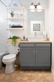 a builder grade bathroom transformation with lowe u0027s u2013 amber interiors