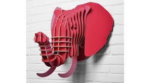 trophee elephant carton trophée déco
