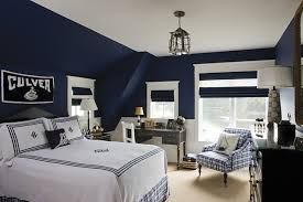 Black Painted Walls Bedroom Blue And Black Kids Bedroom With Black And White Graphic Painted