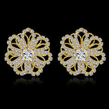 gold earring studs designs wholesale low luxury stud earrings for women fashion gold