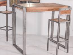 Table Acier Bois Industriel by