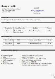 resume format doc for freshers 12th pass student job bca fresher resume format doc