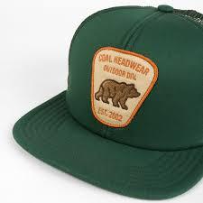 bureau hat coal the bureau trucker hat green surfhouse