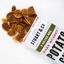 Cape Cod Russet Potato Chips - a salted bbq potato chips by stuart u0026 co farm to people small