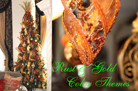 rust u0026 gold christmas tree decorating ideas unique floral