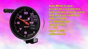 auto meter 6806 procomp memory tachometer youtube
