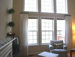 window treatments for two story windows curtains what size curtain