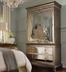 two door two drawer armoire with mirror front by hooker furniture