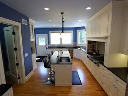 White And Blue Kitchen - 1908 historic wagner house in placentia with white and blue