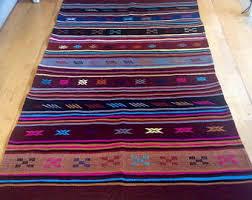 Multi Coloured Rug Uk Rugs Vintage Etsy Uk