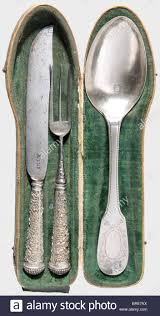 a german silver travel cutlery set in case friesland second