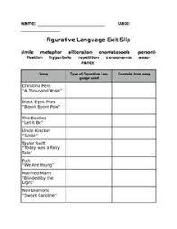 3 free figurative language worksheets teacherspayteachers com