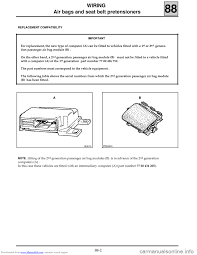 renault clio 1999 x65 2 g air bag and seat belts workshop manual