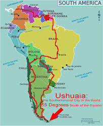 American Route Map by South America Bicycle Touring Route Worldbiking Info
