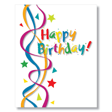 Birthday Card Cheerful Streamers Birthday Card