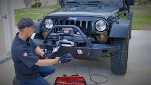 jeep winch bumper warn bumper and zeon winch install how to upgrade jeep wrangler