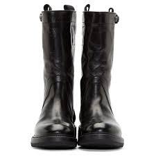 Shoesininblog Rick Owens Women U0027s Black Leather Biker Boots