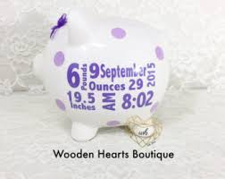 keepsake piggy bank large gold name personalized piggy bank custom made for a