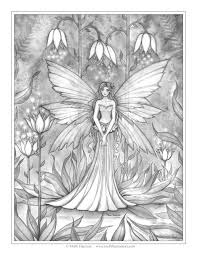 illuminated garden free fairy coloring page by molly harrison