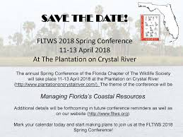 Save The Date Website Save The Date Fltws 2018 Spring Conference U2014 The Wildlife Society