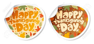 happy thanksgiving day stickers royalty free cliparts vectors