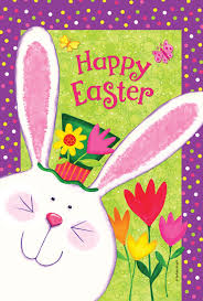 Easter Garden Decorations by Happy Easter Bunny Garden Flag