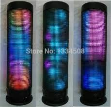 light up portable speaker multicolor light up led music dancing bluetooth pulse speaker