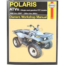 haynes polaris repair manual 2508 atv u0026 utv dennis kirk inc