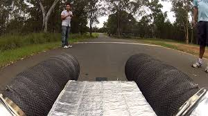 jet powered street luge first ride under power onboard footage