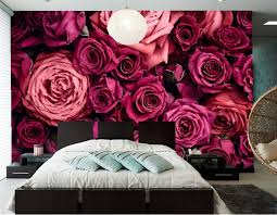 Wine Color Bedroom by Online Shop Custom 3d Mural Papel De Pared Roses Many Closeup Wine
