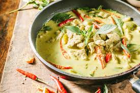 cuisine thailandaise recette recette poulet au curry vert thaï