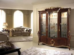 3 Door Display Cabinet Display Cabinet With Decor With A Classic Italian Taste