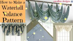 How To Hang Curtain Swags by How To Make A Waterfall Valance Pattern Youtube