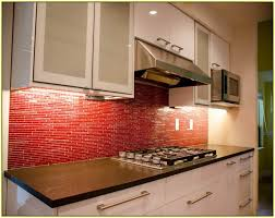 Glass Kitchen Tiles For Backsplash by 28 Red Kitchen Tile Backsplash Rusty Slate Subway Mosaic