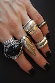 large silver rings images Back to black dark statement rings jewellery blog jpg