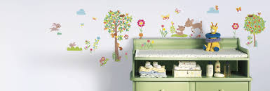 baby wall decals forest animals birch trees wall decal for