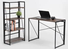 A Computer Desk Folding Desk Coavas Simple Foldable Pc Table Study Desk Industrial