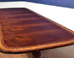 Mahogany Boardroom Table Vintage Conference Table Etsy