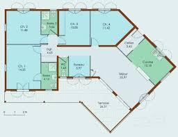 plan de maison a etage 5 chambres plan maison plain pied 5 chambres plan maison en v plain