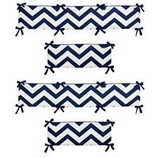 navy crib bumper from buy buy baby