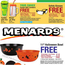 menards free after rebate deals insulated tumblers halloween