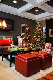 bronze christmas tree living room contemporary with wall art