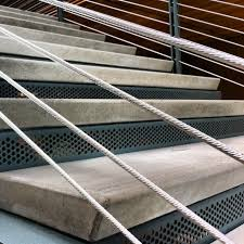 Precast Concrete Stairs Design Precast Stair Treads W Sandblast Nosings Project Scc Wood