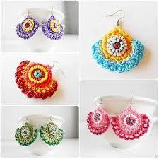 thailand earrings pretty dangle earrings crochet colorful wax cord jewelry thailand