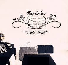 popular vinyl lettering decal buy cheap vinyl lettering decal lots keep smiling wall art quotes removable wall stickers lettering vinyl decal mural decor large size