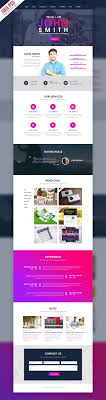 single page brochure templates psd creative one page portfolio website template free psd